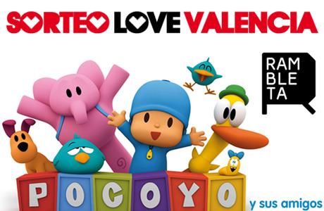 Sorteo Love Valencia Pocoyó y sus amigos La Rambleta