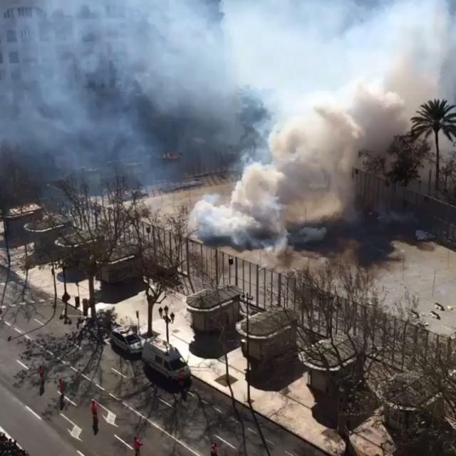 Primera #mascleta del año! Ya se siente el #ruido y el olor a #pólvora en #Valencia #Fallas #LoveValencia