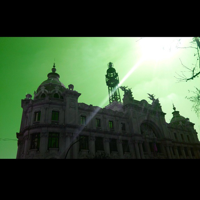#beautiful #fallas #valencia #lovevalencia #skylovers #sky #cielo #colors #colorsplash #green #Architecture #landscape