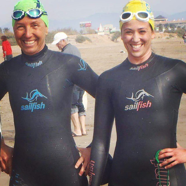 swimming the working women's day #patacona #nadopatas #swim #openwaterswimming #aguasabiertas #Alboràia #Alboraya #loveValencia