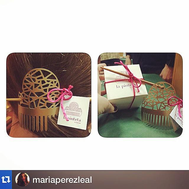 #Repost @mariaperezleal with @repostapp.?????Ya tenemos nuestra Pinteta @97arantxa! Gracias @joyeriabiendicho, nos encanta! ???? #Fallas2015 ???? #Falles2015 #LaPinteta #loveValencia #instafallas @gemmasancho
