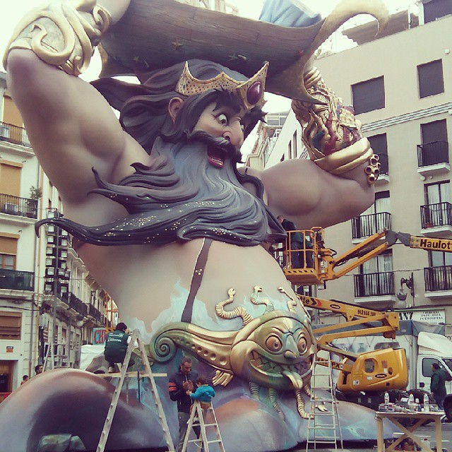 Cuenta atras para las fallas 2015/ countdown for fallas 2015 #fallas2015 #fallas #falles #fallasfestival #valencia #spain #españa #love #lovevalencia #valenciacity #jaestemenfalles #instaparty #party #fiesta #sculture #art #arte #colour #picoftheday #follow #amazing #fire #incredible #fallesarecoming #wonderfull #fallaconventojerusalen #plantà2015 #plantà15