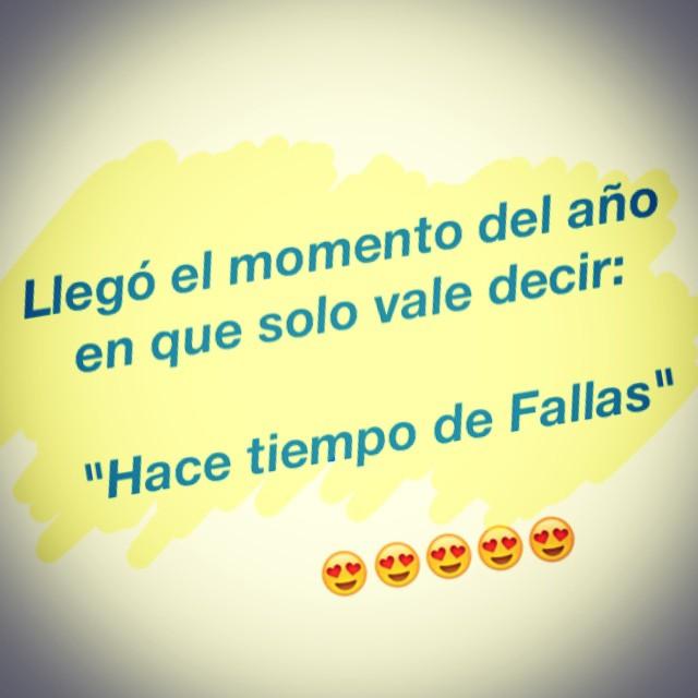 Hoy, hace tiempo de Fallas!!! Mucho caloret!!! ???? #Fallas2015 #ValenciaEnFallas #Fallas #Caloret #LoveValencia