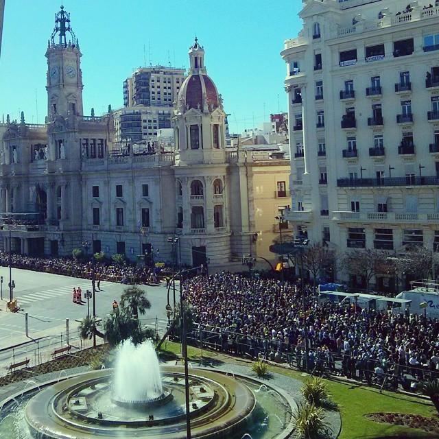 Todo listo para la Mascletá!!! #lovevalencia#loves_valencia#insta_international#instavalencia#valenciaenfallas#lv_fallas2015#turismospain
