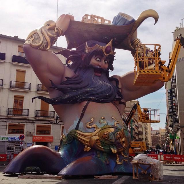 Y comienza la #plantà de las #Fallas  #Fallas2015 #Valencia #LoveValencia