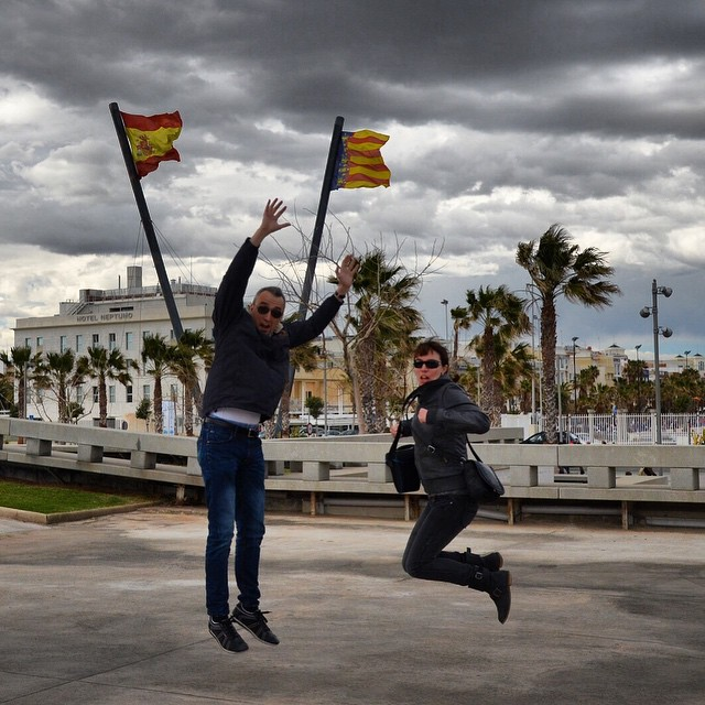 #jump #Valencia #flags #wanderlust #viaggio #viajar #voyage #vacances #fun #ilovevalencia #lovevalencia #instago #instapic #instaphoto #happy