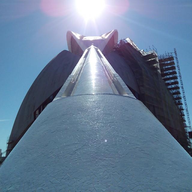 Buenos dias ???????????? #sinfiltros #valencia #valenciacity #love #lovevalencia #spain #españa #architecture #arquitectura #calatrava #art #bluesky #goodmorning #buenosdias #instabest #instapic #picoftheday #beautiful #sunnyday #sunny #sol #future #amazing #tomorrowland #disney #ciudaddelasartesylasciencias #follow #tagsforlikes #like4like