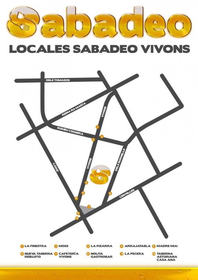 Mapa Sabadeo Calle Vivons