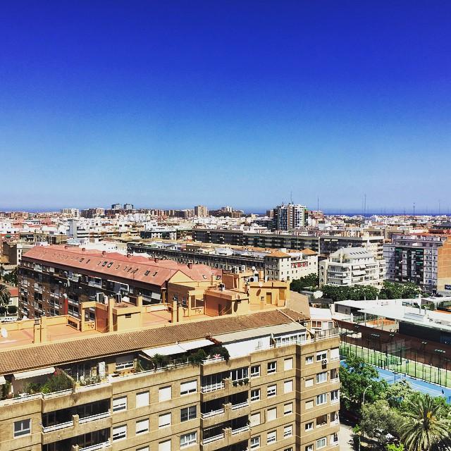 Not a bad view fir the next few days #loveValencia