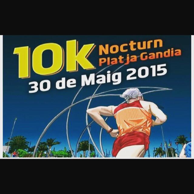 "Próximo objetivo ""10K Nocturna Playa de Gandía"" a las 21:00 @toprun_es @walesskas @rocafortrunning #run4fun #run4live #run4love #loverunning #lovevalencia #playadegandia #gandia"