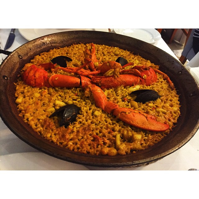 Lobster paella for lunch ????