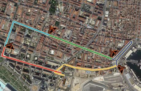 Plano Carrera Never Stop Running Valencia