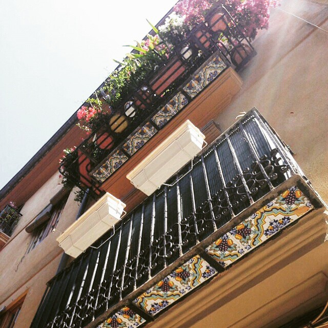 #Regrann from @joyeriabiendicho -  mirad que balcones con base cerámica tan bonitos en mi Barrio de El Carmen de #valencia2015 Es otra forma de vivir...mejor #balcones #carmen #carme #Valencia #lovevalencia #ceramica #flores #barrio #hogar #home #ceramics #balcony #ciudad #instalife #cielo #azulejos @azulejos_monzo @joyeriabiendicho #mygrind #ilovemyjob #photooftheday #life #instagood #working #instadaily #myjob #computer #beautiful