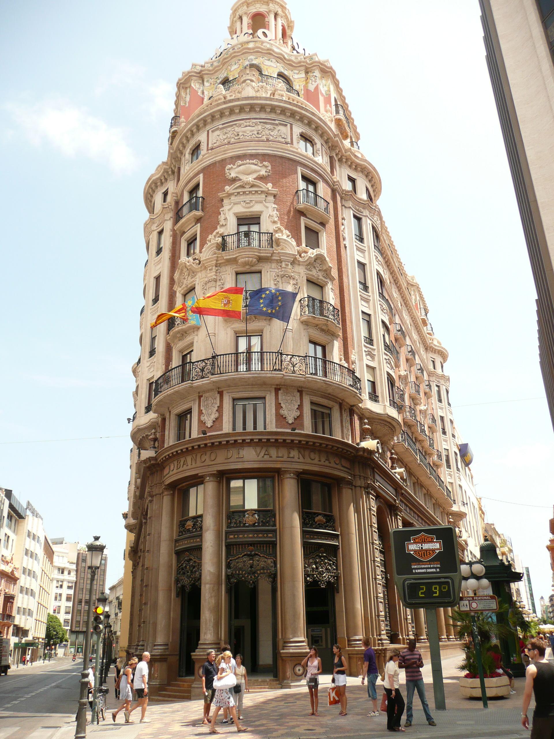 antiguo edificio del banco de valencia