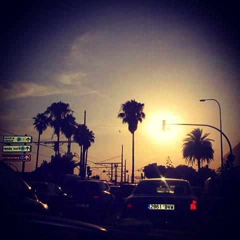 #Valencia #AvTarrongers #trafficlights #cars #palms #beautifulview #lovevalencia #missingValencia #bestcityintheworld #cantwaittocomeback