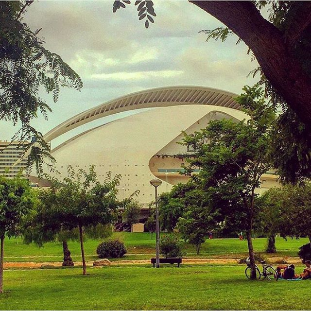 De ruta con la bici. I ?VLC #TagsForLikes#instalike#picoftheday#photooftheday#phothografyinthecity#estaes_españa#estaes_espania#estaes_de_todo#estaes_valencia#loves_valencia#lovevalencia#valenciatoday#valenciamola#valenciagram#ciudaddelasartesylasciencias#palaudelesarts#garden#river#valencia#ok_spain#ok_europe#ok_valencia