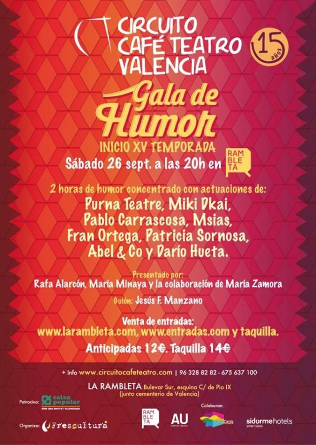 Cartel Gala Circuito Café Teatro Valencia