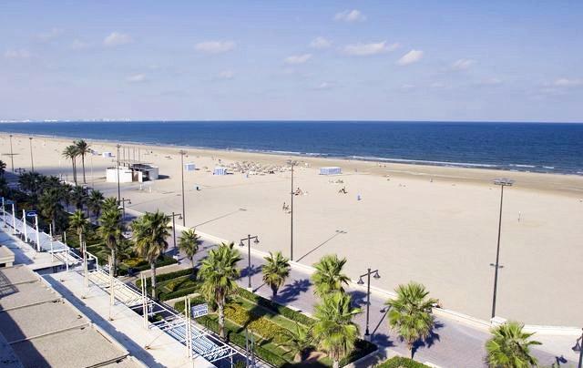 Las Arenas Beach In Valencia Spain