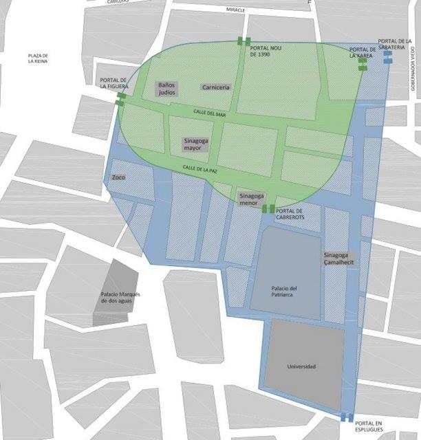 mapa valencia judia