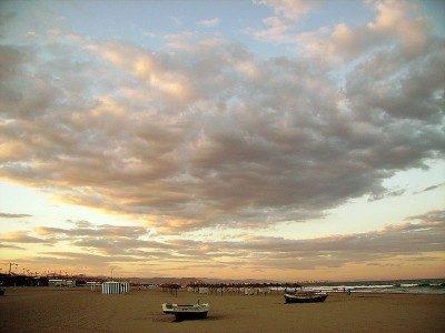 Malvarrosa Beach Valencia Spain