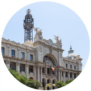 Palazzo delle Poste, Monumenti a Valencia