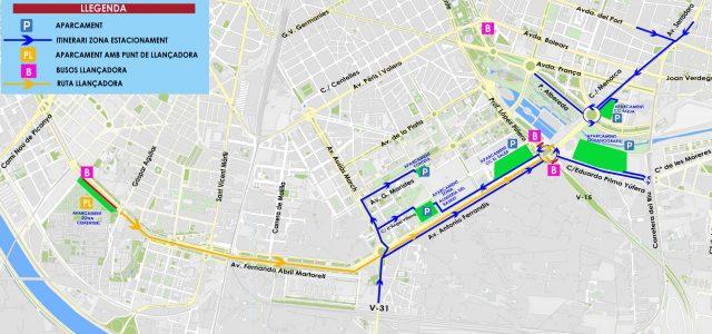 aparcar maraton valencia 2017
