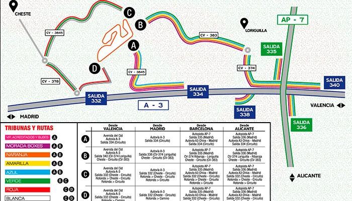 Se aconseja acudir al Valencia GP de Motociclismo en tren o moto