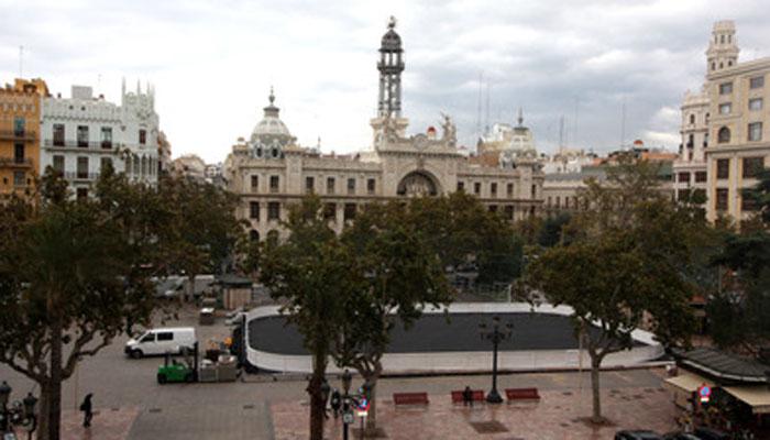 pista de hielo Plaza del Ayuntamiento