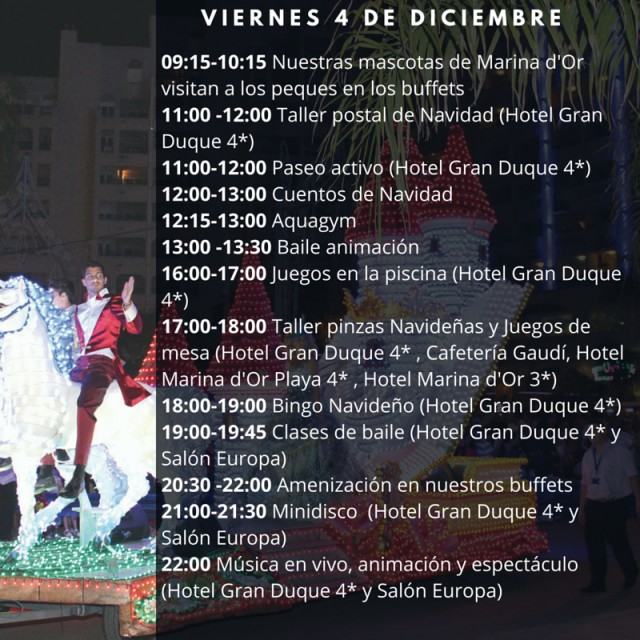 Horario Marina dOr 4 de diciembre 2015