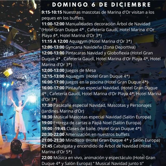 Horario Marina dOr 6 de diciembre 2015