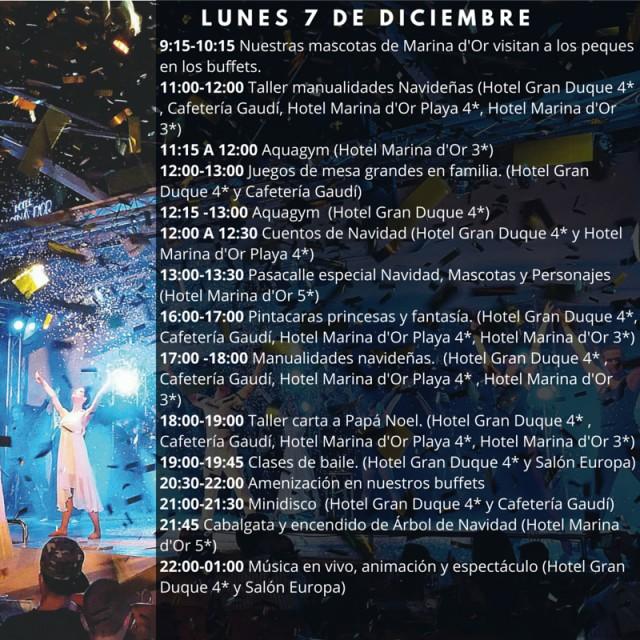 Horario Marina dOr 7 de diciembre 2015