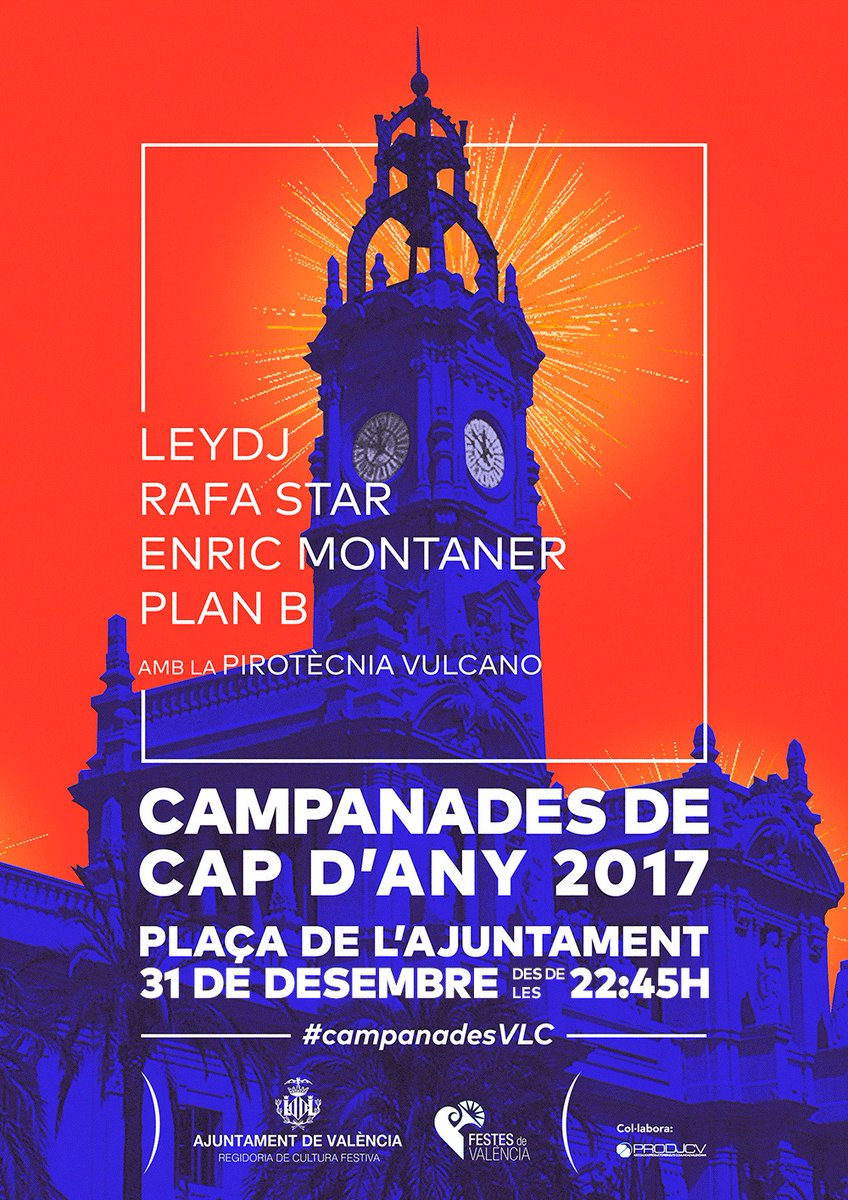 Nochevieja en la plaza del ayuntamiento de València
