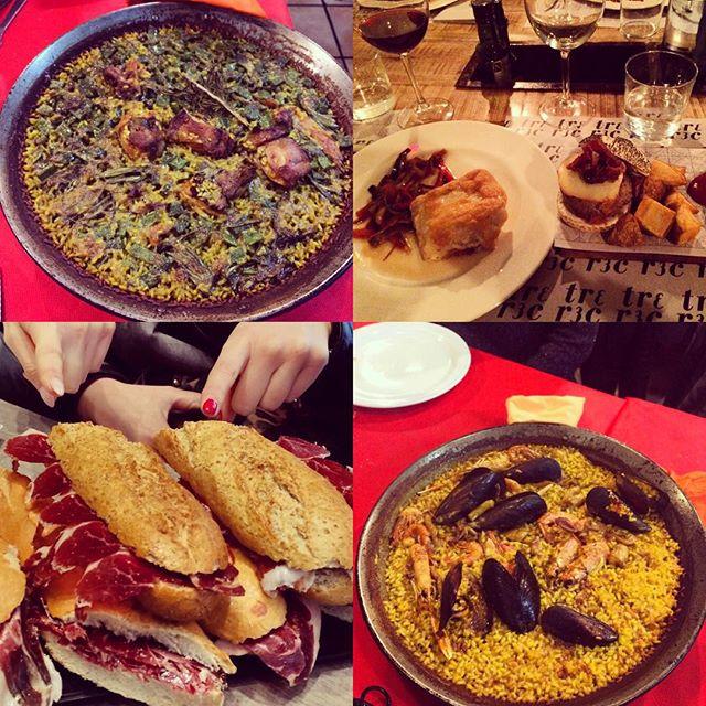 Diciamo che noi di fame di certo non muoriamo ..?????????? #lovevalencia #spain #amici #vacanze #turistepercaso #paellavalenciana #patanegra #jamoniberico