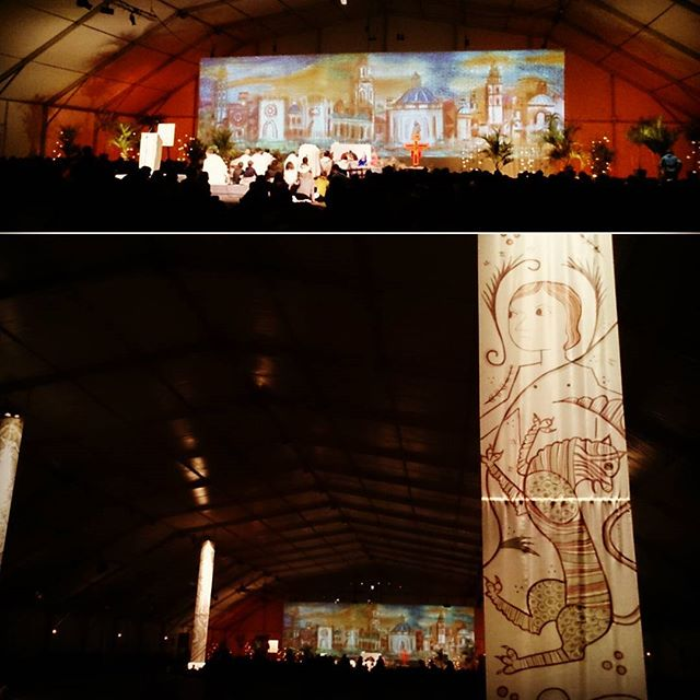 yesterday evening prayer  was the last time in the beautiful tents  #TaizéinValencia #LoveTaizé #LoveValencia