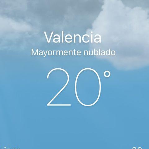 Menos mal que es #enero y esta nublado, que va haber cambio climático, no me lo creo...#valencia #lovevalencia #mycity