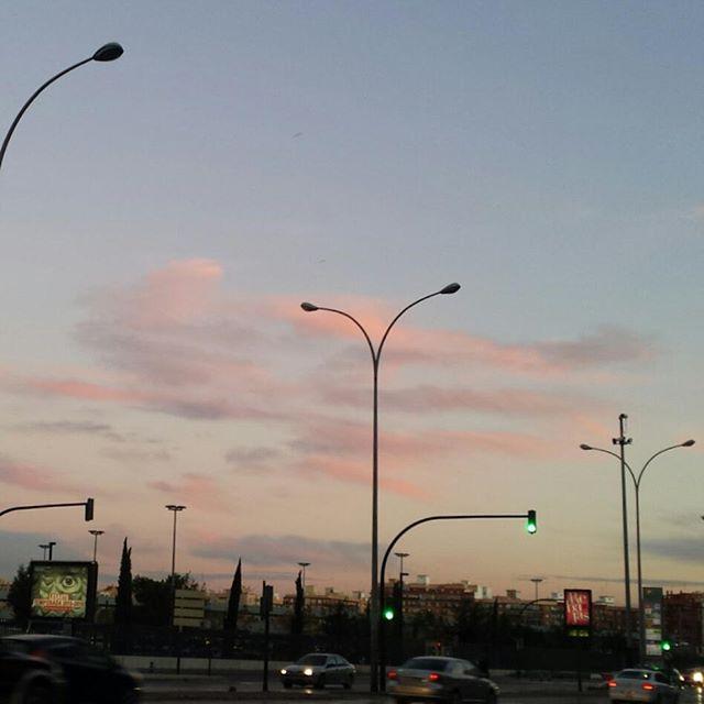 Blue sky Pink clouds #nofilter #lovevalencia