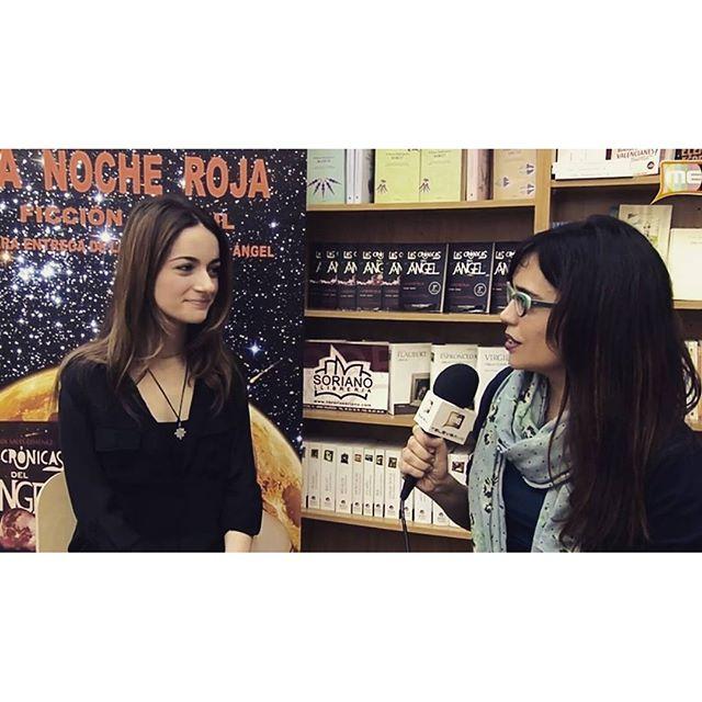 Entrevista a Marisol Sales , autora del libro La Noche Roja , el primero de 4 de la Saga #lascronicasdelangel en #libreriasoriano , #televisame #lovevalencia #entrevista #libros #librosmaravillosos #lanocheroja