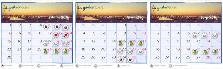 Calendario La Gastrocasa