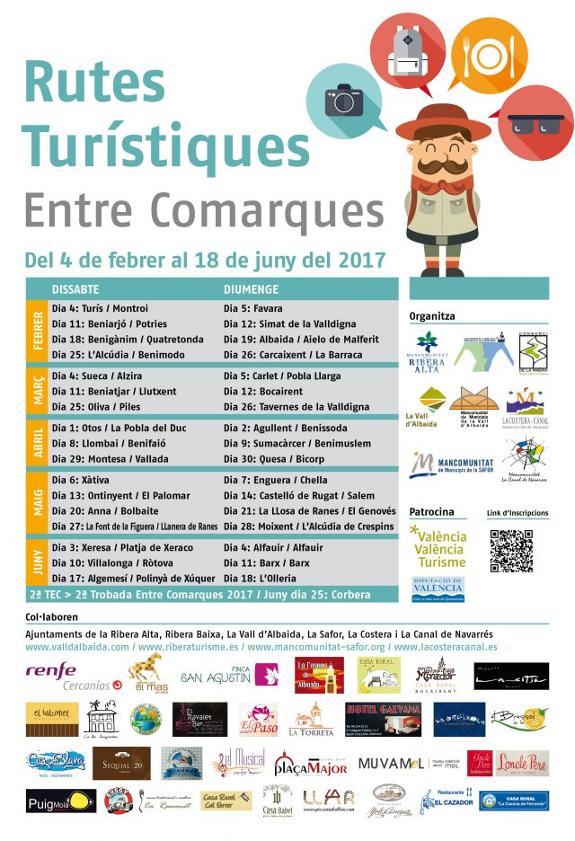 Cartell Rutes entre comarques 2017 modificado
