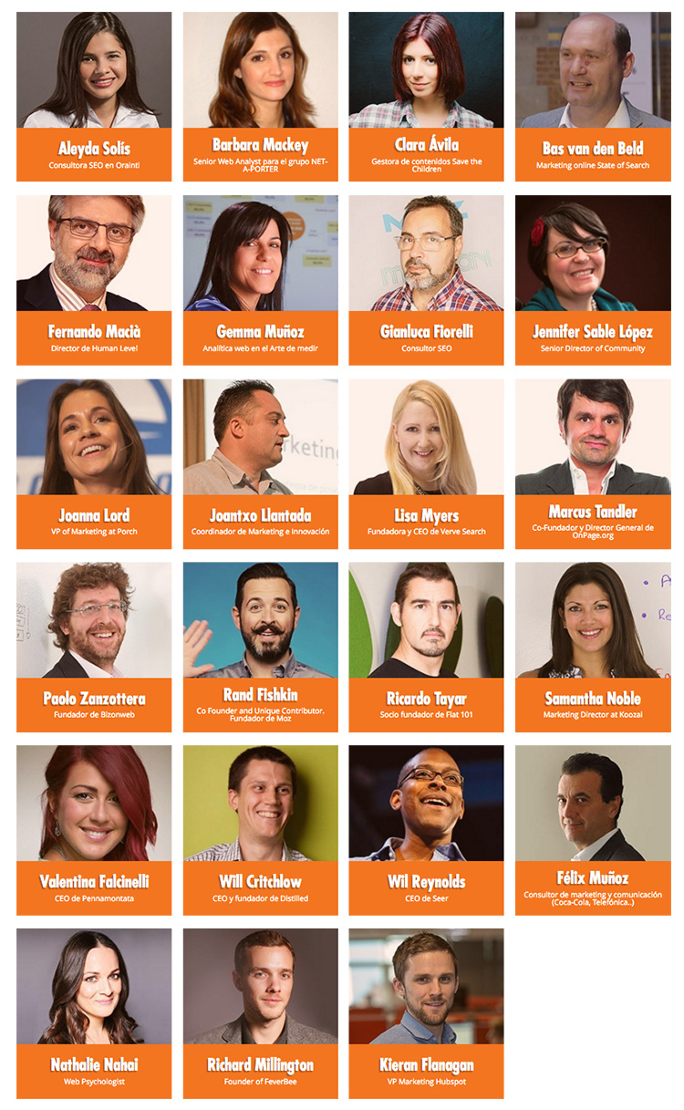 Speakers Inbounder Global Conference Valencia 2016 Marketing