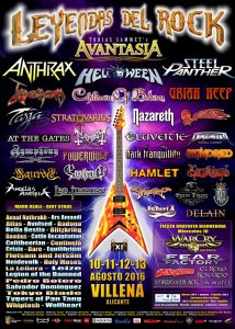 Cartel Festival Leyendas del Rock 2016