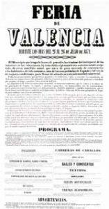 Cartel 1871 Gran Fira de València