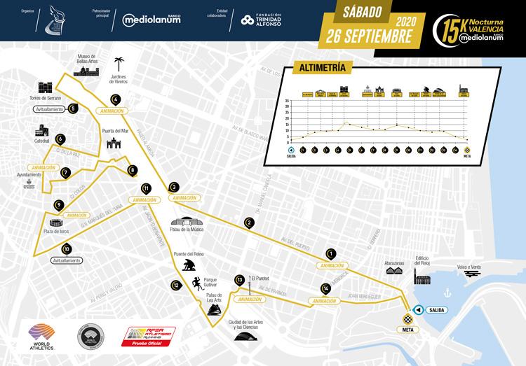 plano carrera 15k nocturna valencia