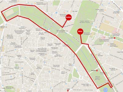 recorrido carrera solidaria cruz roja