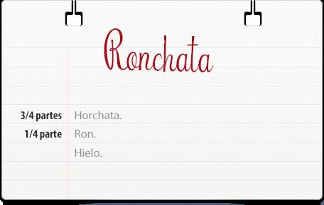 Ron y horchata coctel