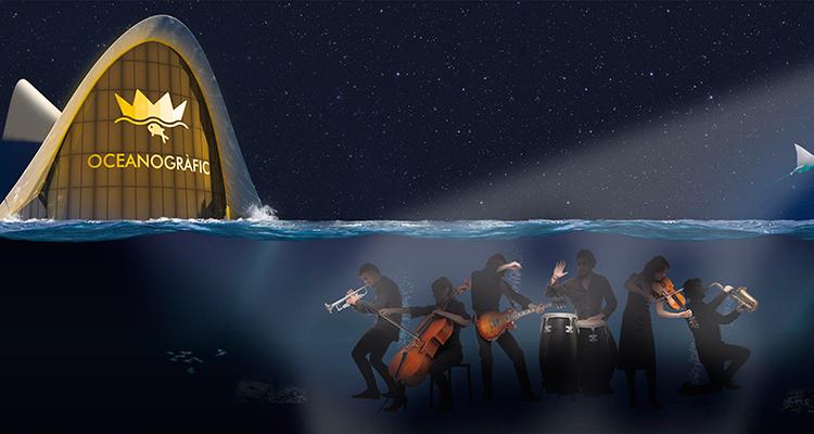 Nuove Notti di Oceanografico, oceanografico Valencia, Spettacolo delfini,