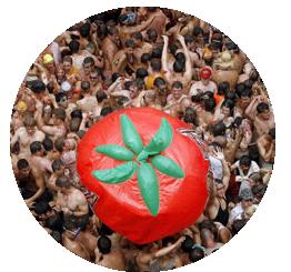 Tomatina, La Tomatina, Tomatina 2016, Tomatina Valencia, La Tomatina di Valencia, Tomatina de buñol, pomodori, lanciare pomodori,