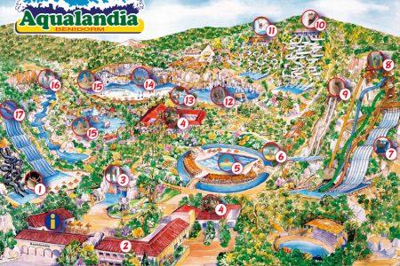 Mappa Aqualandia Benidorm