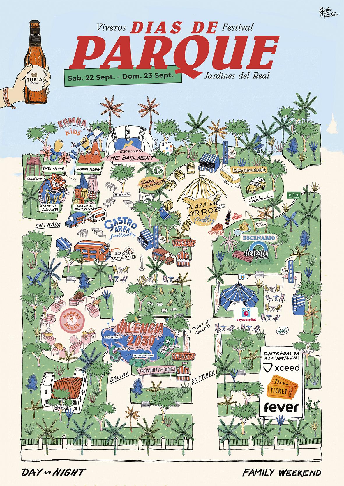 cartel días de parque