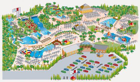 Mappa Aquopolis, Parchi acquatici Valencia
